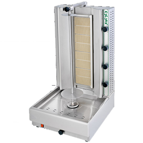 Visvardis - 155 - 200 Lbs Capacity Gas Gyro & Shawarma Machine 60,000 BTU - DG10A