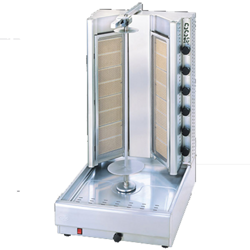 Visvardis - 175 - 200 Lbs Capacity Turbo Gyro & Shawarma Machine 96,000 BTU    - DG16V