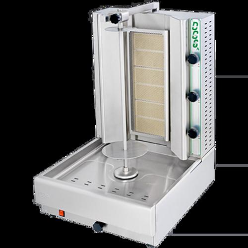 Visvardis - 66 - 100 Lbs Capacity Gas Gyro & Shawarma Machine 36,000 BTU - DG6A