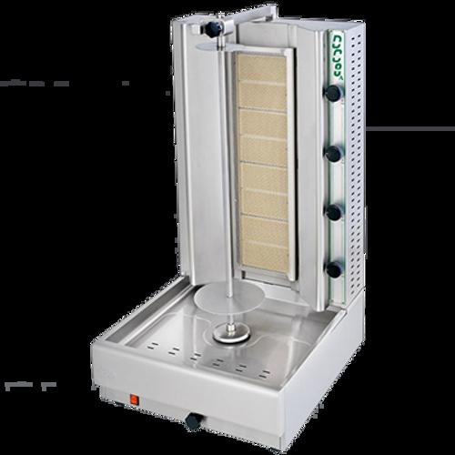 Visvardis - 90 - 140 Lbs Capacity Gas Gyro & Shawarma Machine 48,000 BTU - DG8A