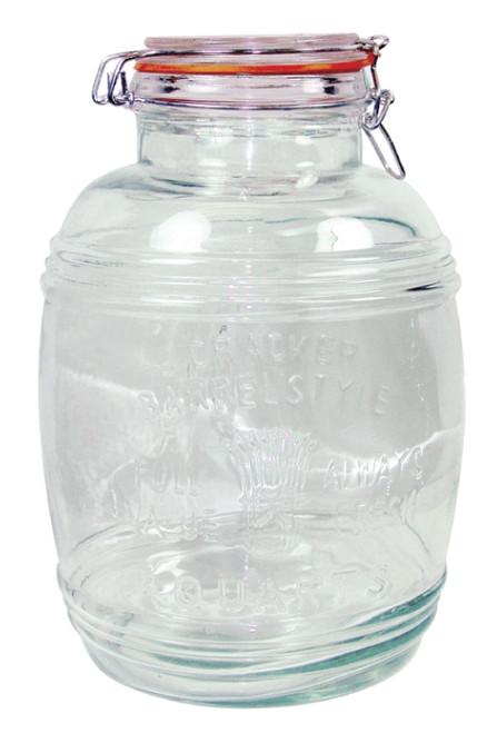 Grant Howard 4 L Glass Barrel Jar With Clip Top Lid
