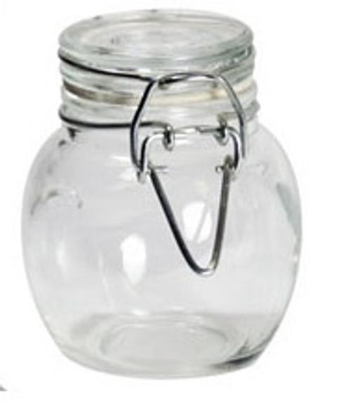 Grant Howard 100 ml Glass Pot Belly Clip Top Bottle - GLA50519