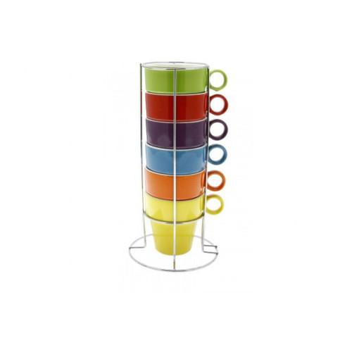Maison Plus - 2 oz Rainbow Espresso Cups - JJA19022