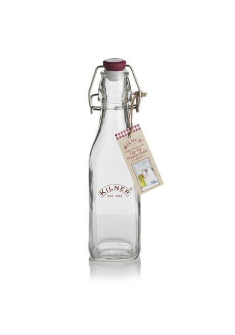 Kilner Square 250 ml Clip Top Preserve Bottle - KLN17436