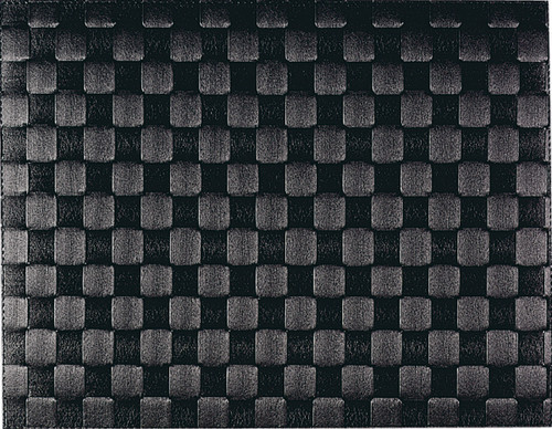 "Saleen Black 12"" x 15.75"" Woven Placemat - SAL119101"