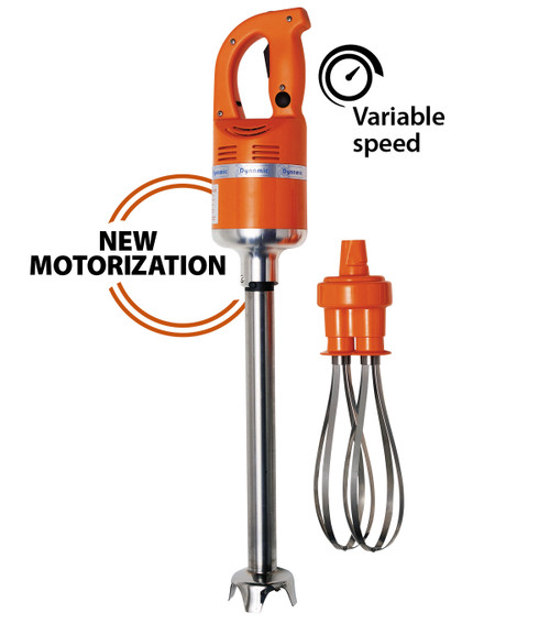 """Dynamic MF2000 Master Dual Function 16"""" Immersion Mixer & 10"""" Whisk 3000 - 9000 Rpm 460W 115V - MF002.1"""