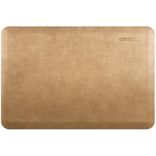 Wellness Mats - 3' x 2' Aztec Gold Linen - PEL32WMRBTN