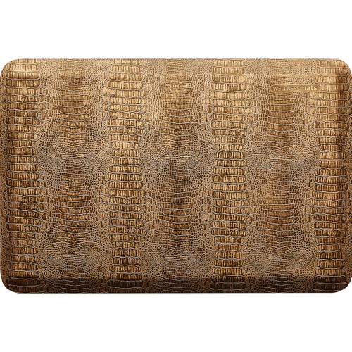 Wellness Mats - 3' x 2' Bronze Croc Collection - PCR32WMRBBK