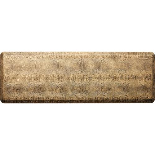 Wellness Mats - 6' x 2' Bronze Croc Collection - PCR62WMRBBK