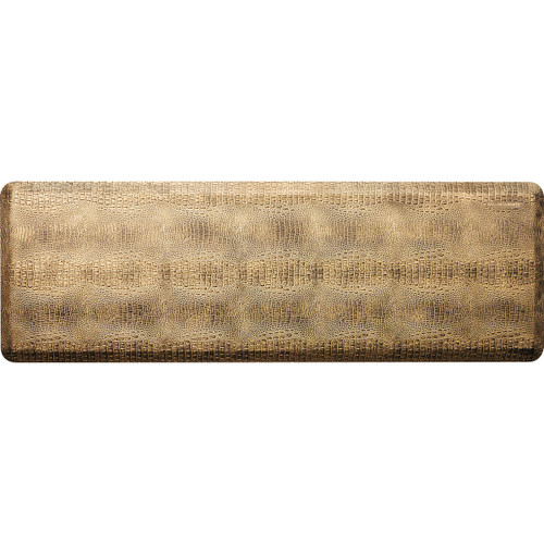 Wellness Mats - 6' x 2' Bronze Croc Collection - PCR62WMRBBK