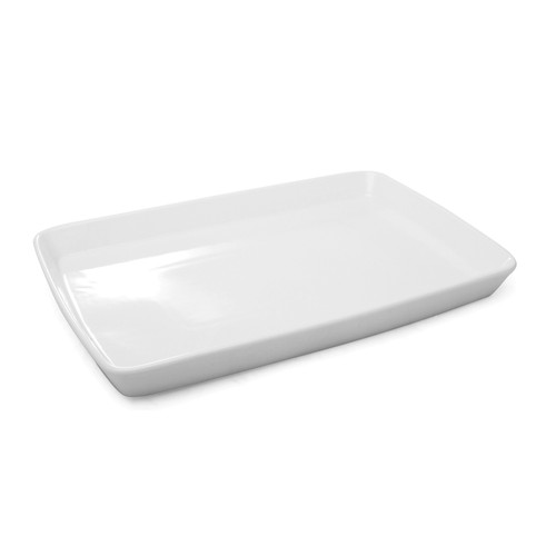 "BIA - White 19"" x 12"" Rectangular Serving Platter - 902928WH"