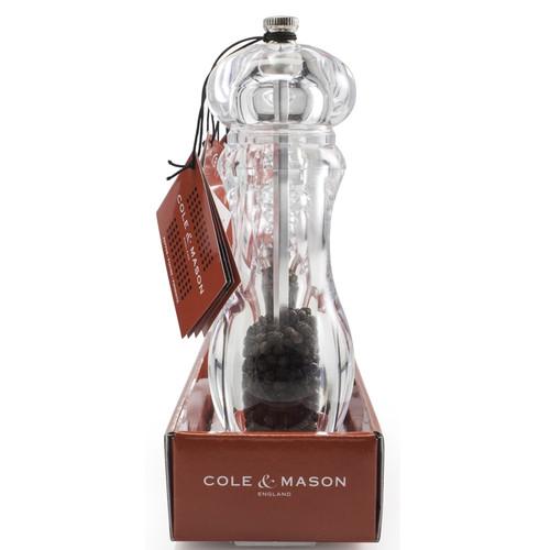 "Cole & Mason - 7.5"" Everyday Acrylic Pepper Mill - H773010RT"