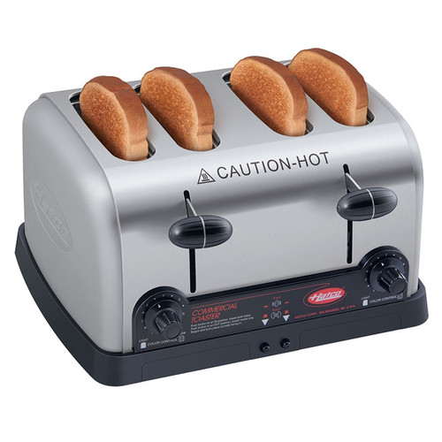 "Hatco 4 Slice 1.25"" Wide Pop-Up Toaster 2600W 208v/60/1-ph - TPT-208"