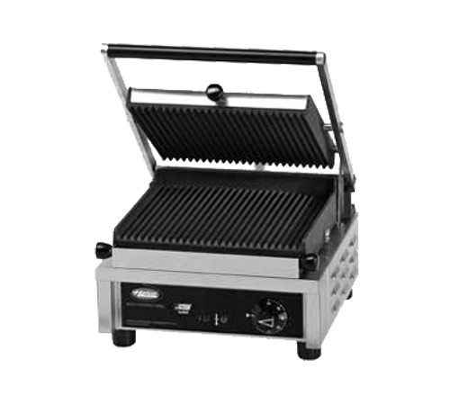 """Hatco 10"""" Multi Contact Panini Grill Grooved Top & Smooth Bottom 1800W 120/60/1-ph - MCG10GS-120"""