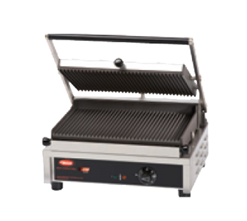 """Hatco 14"""" Multi Contact Panini Grill Grooved Top, Smooth Bottom 2600W 240/60/1-ph - MCG14GS-240"""