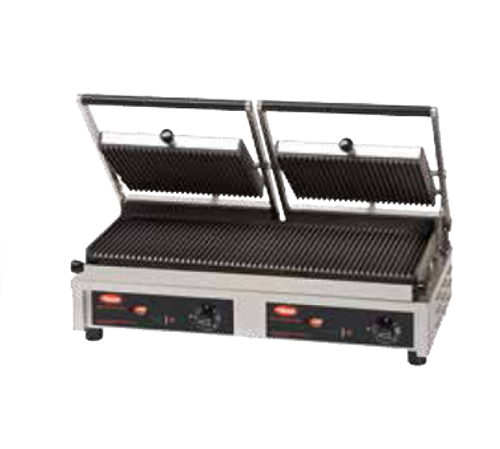"""Hatco 20"""" Double Multi Contact Panini Grill Grooved Top & Smooth Bottom 3760W 240V - MCG20GS-240"""