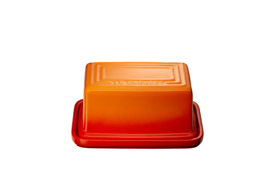 "Le Creuset - 7"" (Holds 1Lb) Flame Butter Dish"