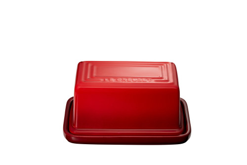 "Le Creuset - 7"" (Holds 1Lb) Cherry Butter Dish"