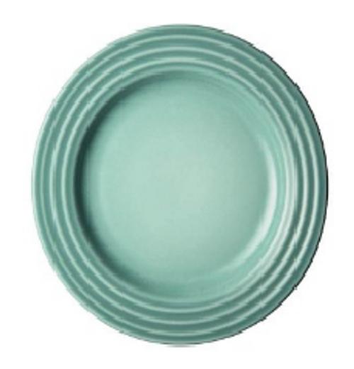 """Le Creuset - 6.7"""" (17cm) Sage Appetizer Plates - Set of 4"""