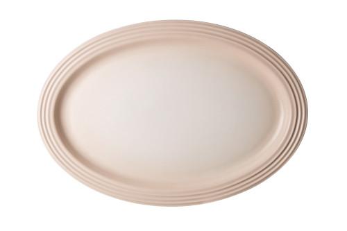 """Le Creuset - 18"""" (46 cm) Meringue  Oval Serving Platter"""