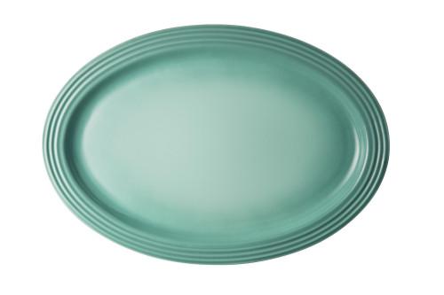 """Le Creuset - 18"""" (46 cm) Sage Oval Serving Platter"""