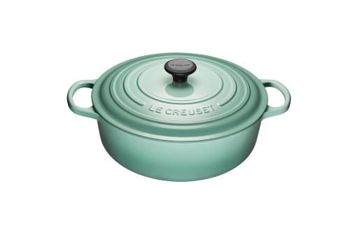 Le Creuset - 6.2 L (6.75 QT) Sage Shallow Round French Oven