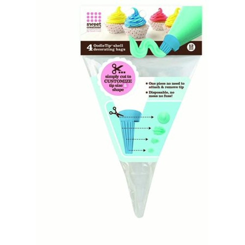 """Sweet Creations - 12"""" OodleTip Disposable Decorating Bags (4 Pack) - 5132"""