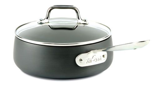 All Clad - HA1 Hard Anodized 2.5 Qt Non-Stick Sauce Pan With Lid - E7852664