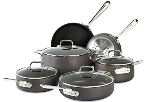 All Clad - HA1 Hard Anodized 10 Piece Cookware Set - E785SC64