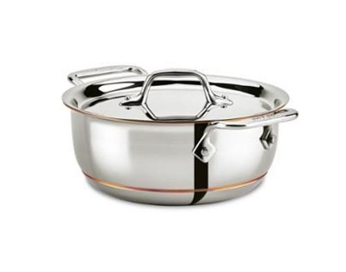 All Clad - Copper Core 2.5 Qt Grain & Bean Pot With Lid -6215SS