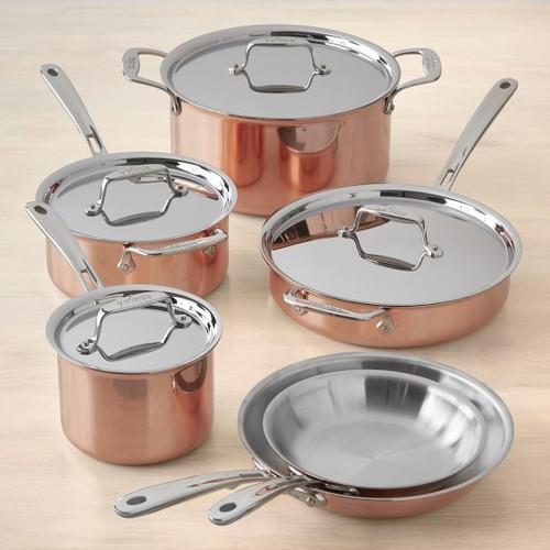 All Clad - C4 Copper 10 Piece Cookware Set - C40010