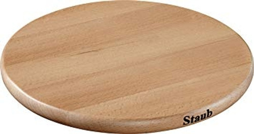 """Staub - 9"""" Round Wooden Trivet"""