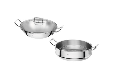 """Zwilling J.A. Henckels - Plus 12.5"""" Wok With Steamer"""