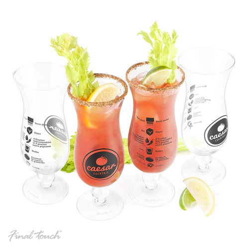 Final Touch - Casear Glass Cocktail Set 4 pc Set - GG5104
