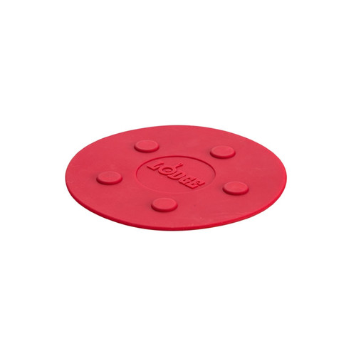 """Lodge - Red 8"""" Magnetic Silicone Trivet - ASLMT41"""