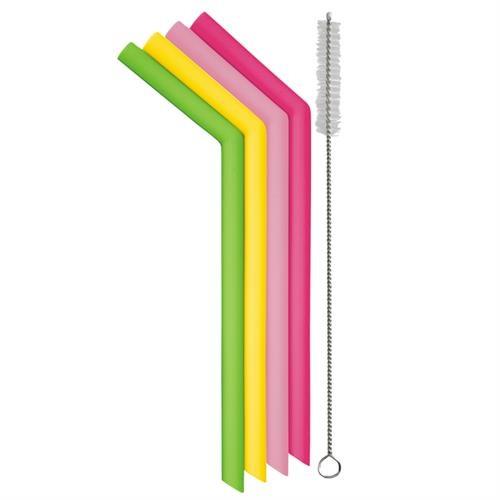 Danesco - Reusable Silicone Straws -1342769AS