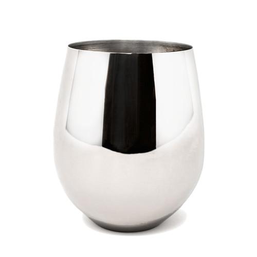 Danesco - 10 oz Stainless Steel Wine Goblet - 8342678SS