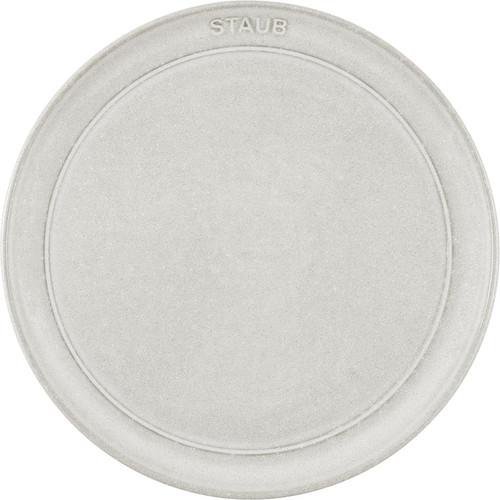 "Staub - 8.5"" (22cm) White Truffle Dessert / Salad Plate"