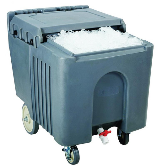 Omcan - 125 Lb Capacity Insulated Ice Caddy With Sliding Lid - 80585