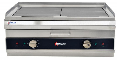 """Omcan - 26"""" Electric Charbroiler / Griddle - 41886"""