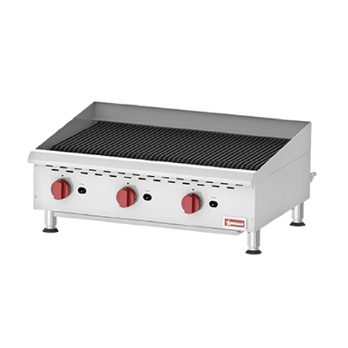 Omcan - Countertop Radiant Gas Char-Broiler With 3 Burners - 43728