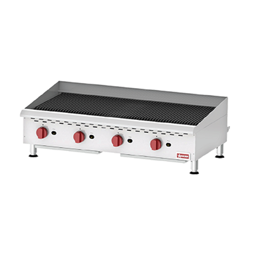 Omcan - Countertop Radiant Gas Char-Broiler With 4 Burners - 43729