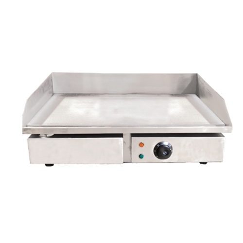"""Omcan - 22"""" Stainless Steel Griddle With Smooth Surface - 34869"""