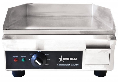 """Omcan - 18"""" Countertop Stainless Steel Electric Griddle - 20179"""