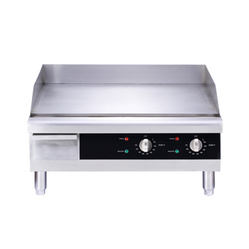 """Omcan - 24"""" Countertop Stainless Steel Electric Griddle - 43213"""
