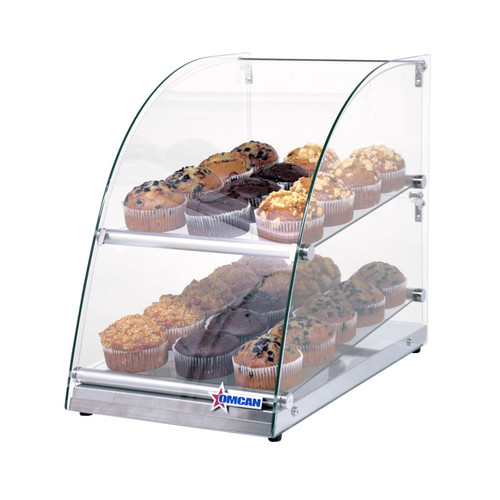 "Omcan - 14"" Countertop Food Display Case With Curve Front Glass And 70 L Capacity - 44374"
