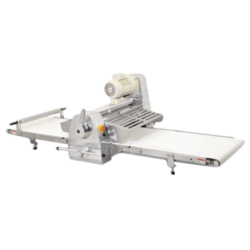 "Omcan - Stainless Steel Table Top Dough Sheeter With 108"" Conveyor Length And 0.5 Hp - 42154"