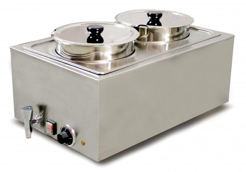 Omcan - Double Food Warmer With 8L Per Container Capacity - 19077