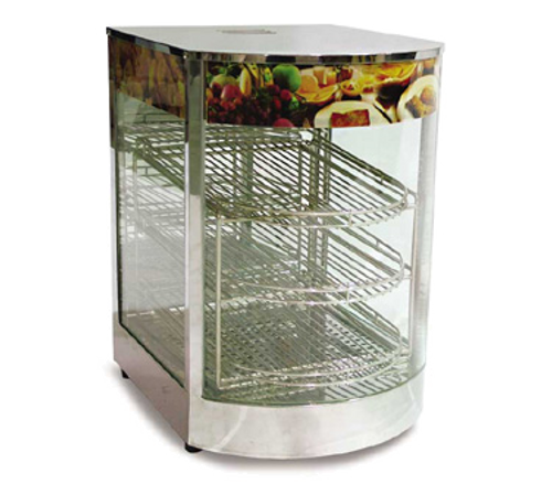 "Omcan - 14"" Curved Glass Display Warmer With 0.85 Kw - 21829"