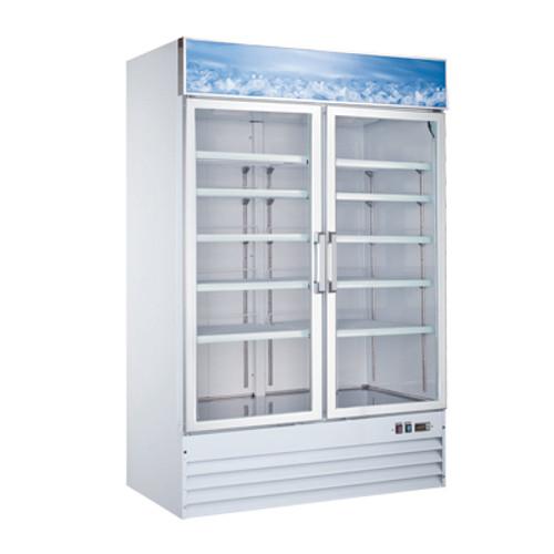 """Omcan - 53"""" 2 Door Swinging Glass Freezer - 50075"""